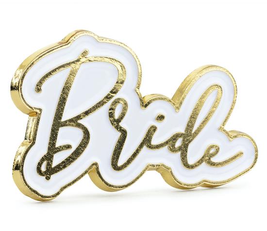 Pripínačka - Bride - Zlatá