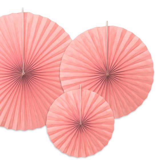 Rozety - Rumencová Ružová (3ks)