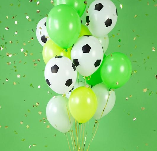 Balóny - Futbal - Biela (6ks)