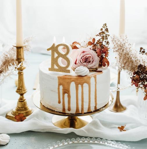 Sviečka na Tortu - 18 - Zlatá