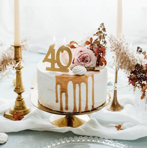Sviečka na Tortu - 40 - Zlatá