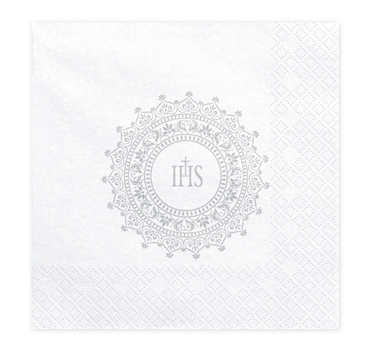 Papierové Servítky - IHS - Strieborná (20ks)