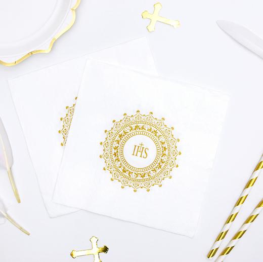 Papierové Servítky - IHS - Zlatá (20ks)