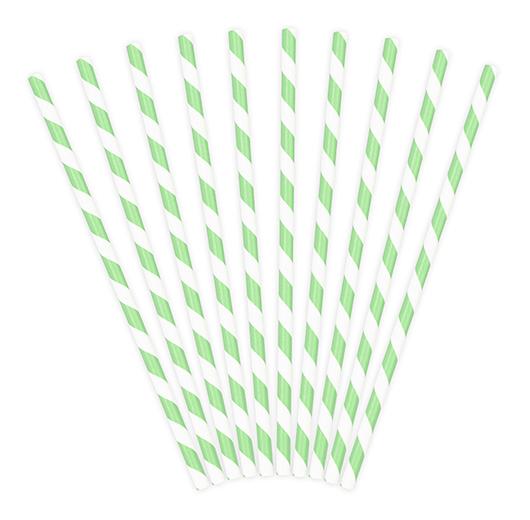 Papierové Slamky - Prúžky - Mätová (10ks)