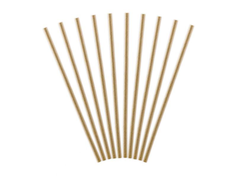 Papierové Slamky - Prírodná Hnedá (10ks)