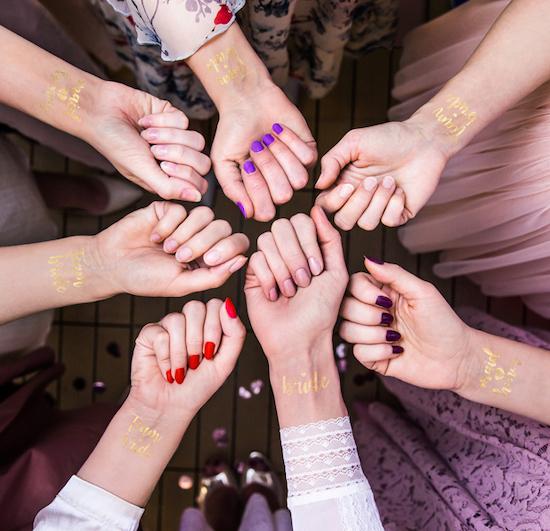 Tetovačky - Rozlúčka - Srdiečka - Zlatá (13ks)