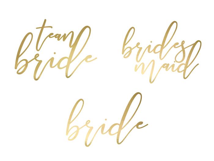 Tetovačky - Team Bride - Zlatá (15ks)