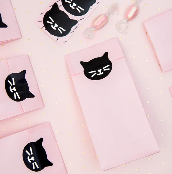 Papierové Vrecká na Dobroty - Mačičky (6ks)