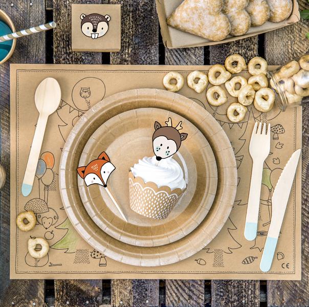 Obaly nu Muffiny + Ozdoby - Set - Zvieratká (6ks)