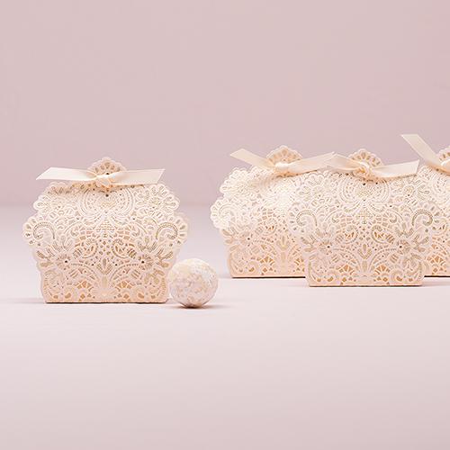 Čipkované Krabičky so Stužkou (10ks)
