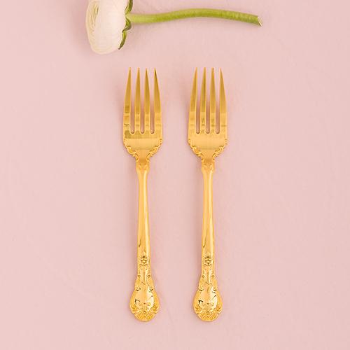 Vidličky na Tortu - Klasická Zlatá Romanca (2ks)