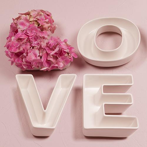"""Svadobné Taniere - """"Love"""" (4ks)"""