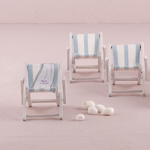 Mini Skládacie Plážové Kreslo - Modrá a Biela