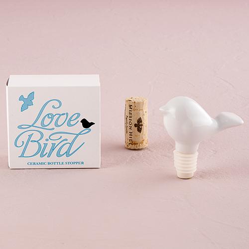 Zátka na Fľašu – Keramický Vtáčik Lásky