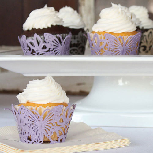 Filigree Paper Laser Cupcake Wrappers - Butterfly (12pcs)