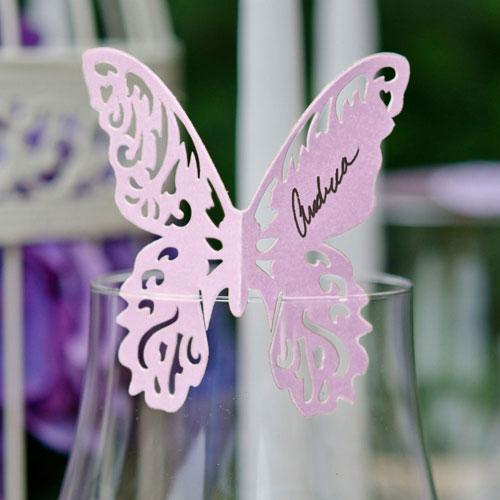 Menovka pre Hostí - Motýľ (12ks)