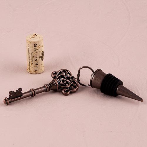 Zátka na fľašu - Ornamentový Vintage Kľúč