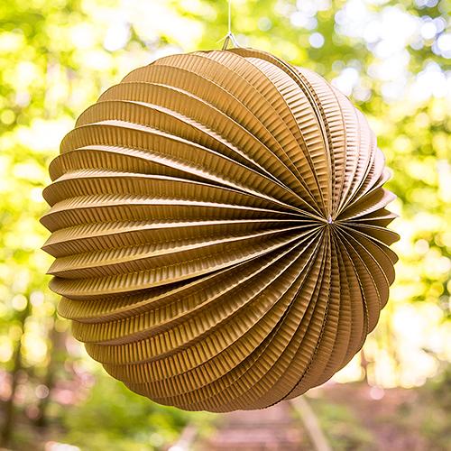 Okrúhly Lampión - Zlatá (30cm)
