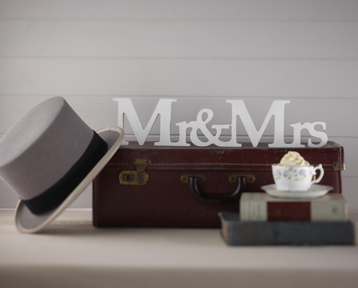 Drevené Písmená - Mr & Mrs - Vintage Affair