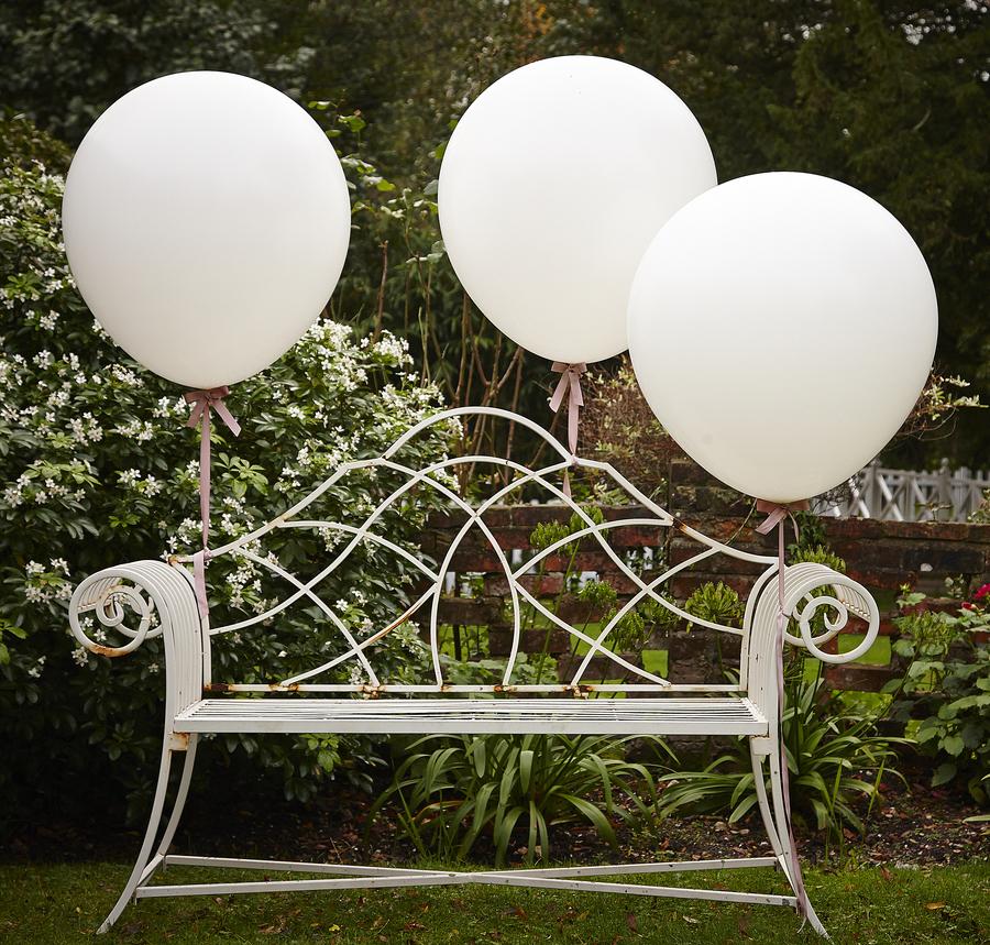 Balóny - Biela - Veľké - 90 cm - Vintage Affair (3ks)