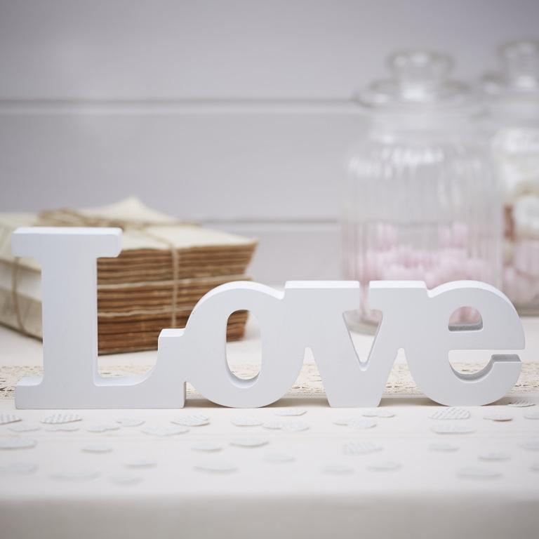 Drevené Písmená - Love - Vintage Affair