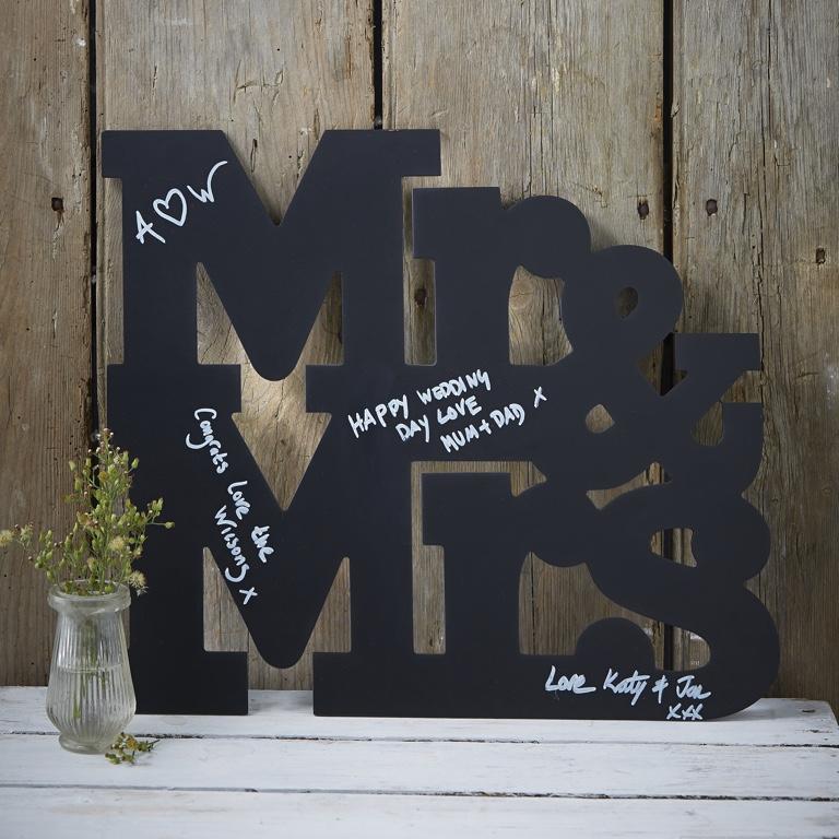 Písmena Mr & Mrs - Alternatívna Kniha Hostí - Vintage Affair
