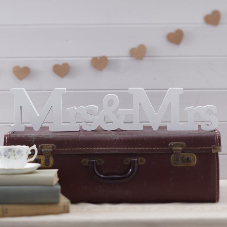 Drevené Písmená - Mrs & Mrs - Vintage Affair