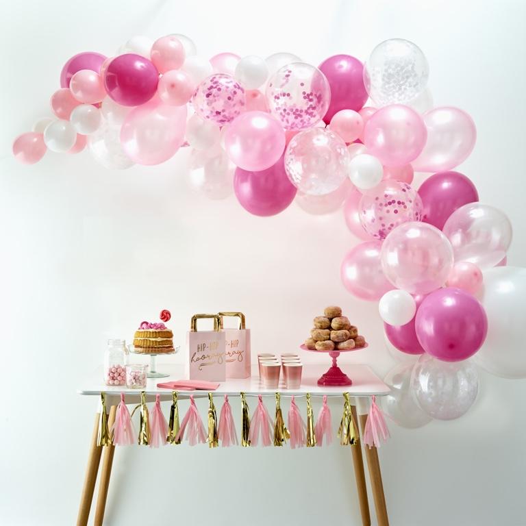 Balónová Brána - Ružová (70ks)