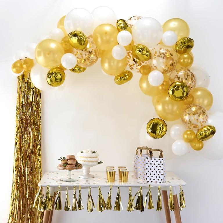 Balónová Brána - Zlatá (70ks)