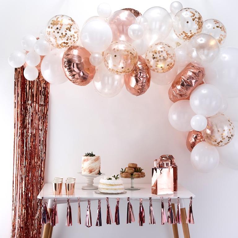 Balónová Brána - Ružovo Zlatá (70ks)