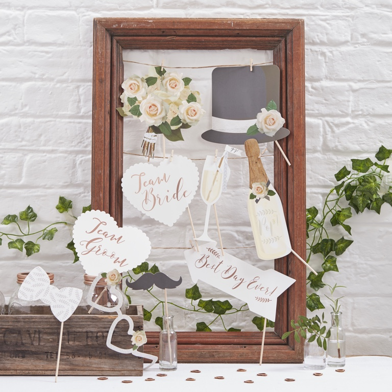 Photo Booth Props - Beautiful Botanics (10pcs)
