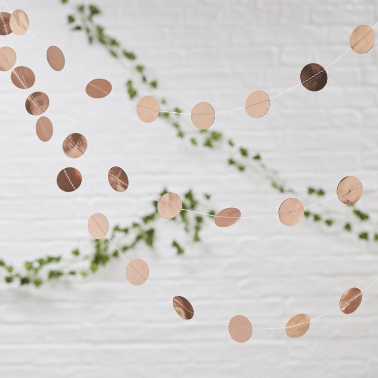 Girlanda - Ružovo Zlaté Kruhy - Krásna Záhrada (5m)