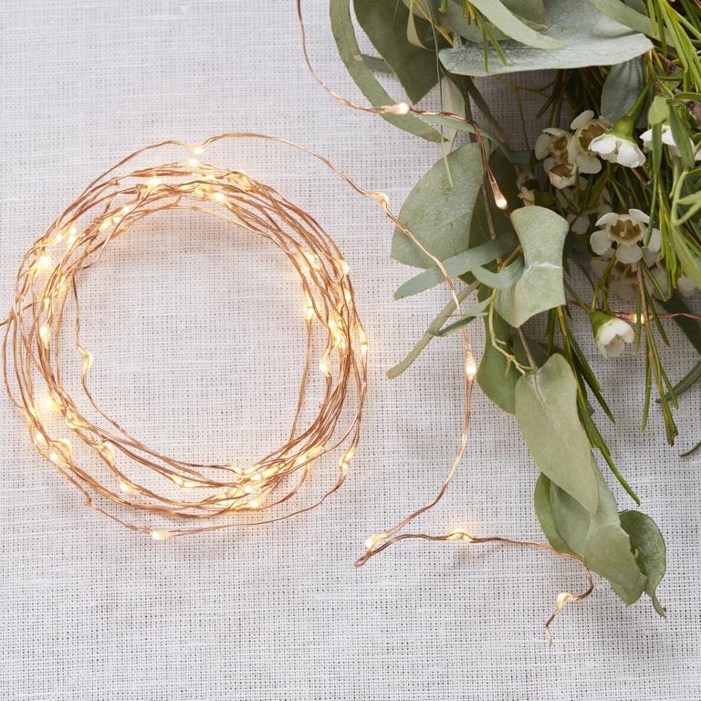 LED Svetelný Kábel - Ružovo Zlatá (3m)