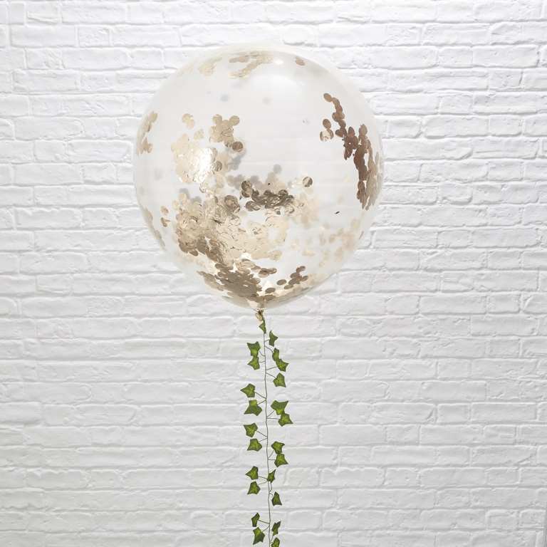 Konfetové Balóny - 90 cm - Ružovo Zlatá - Krásna Záhrada (3ks)