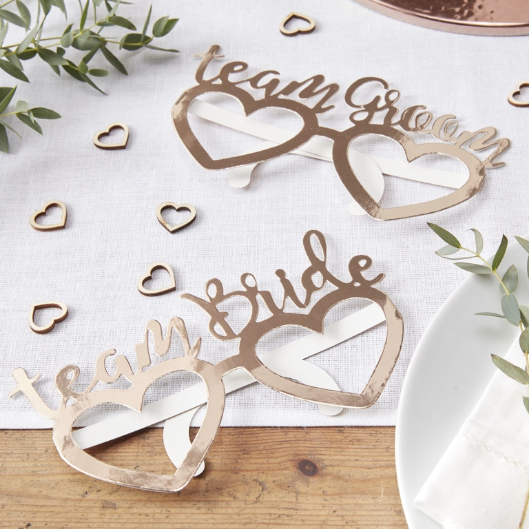 Foiled Fun Glasses - Rose Gold - Beautiful Botanics (8pcs)