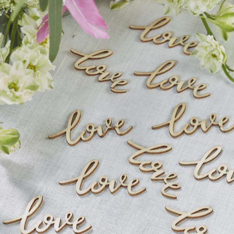 Drevené Konfety - Love (25ks)