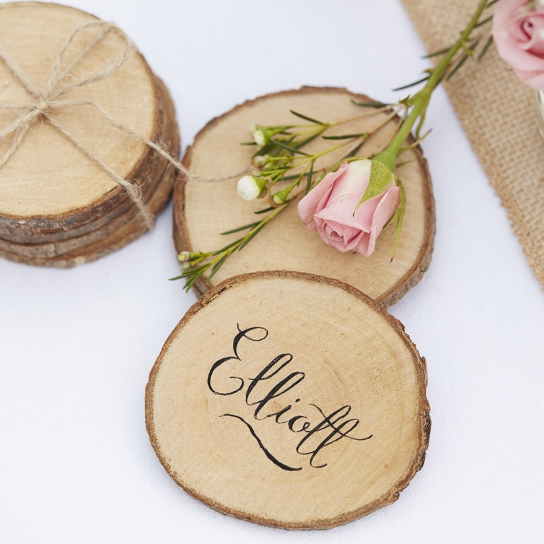 Mini Wooden Slices - Rustic Country (5pcs)