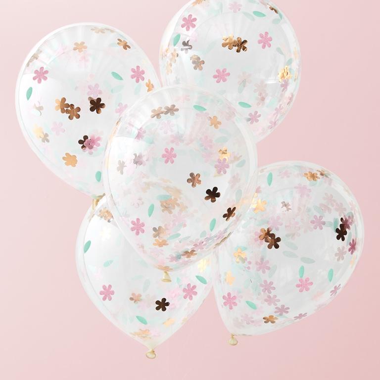 Konfetové Balóny - Kvety - 30 cm - Záplava Kvetov (5ks)