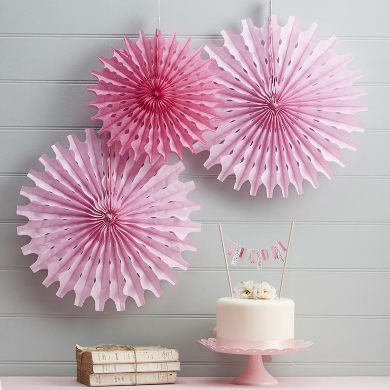 Rozety - Ružová - Floral Fancy (3ks)