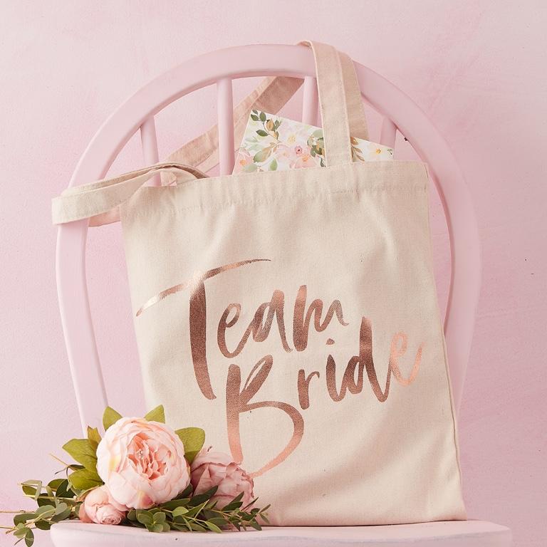 Textilná Taška - Team Bride