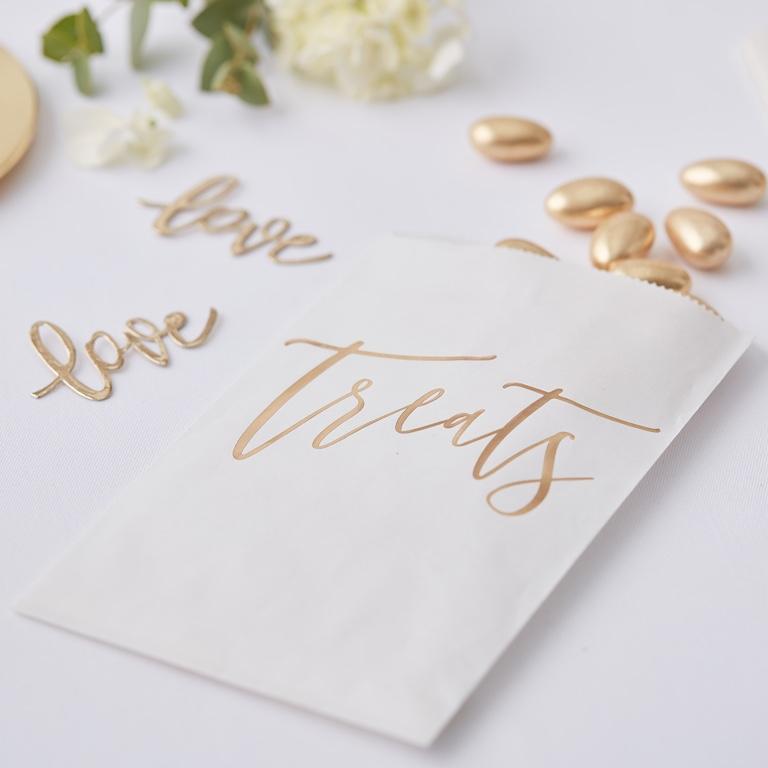 Papierové Vrecúška - Zlatá Svadba (20ks)