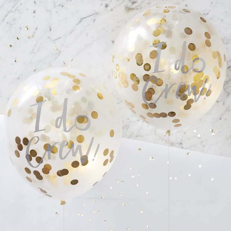 Konfetové Balóny - Zlatá - I Do Crew (5ks)