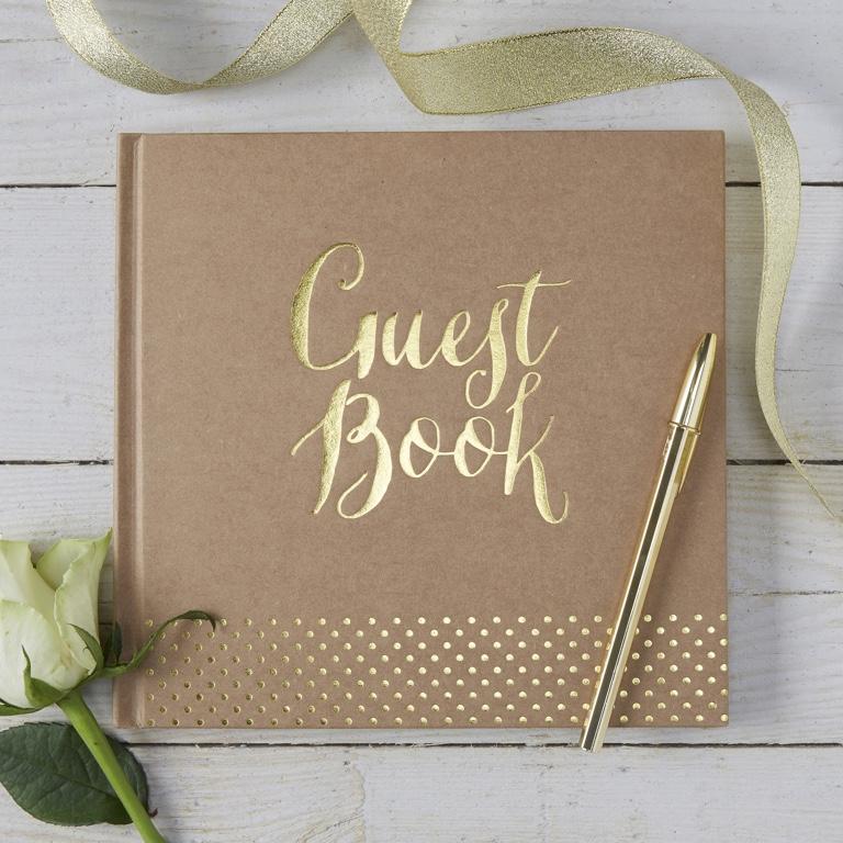 Kniha Pre Hostí - Hnedá a Zlatá
