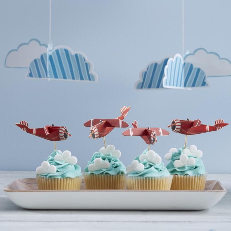 Ozdoba na Muffiny - 3D Lietadlá - Flying High (10ks)