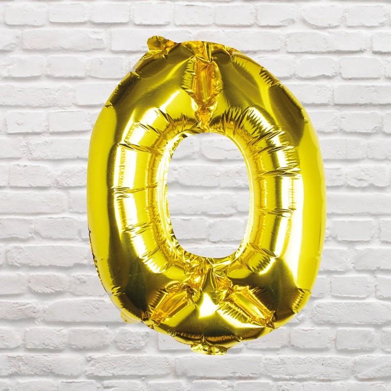 Foliový Balón - 0 - Zlatá (40cm)