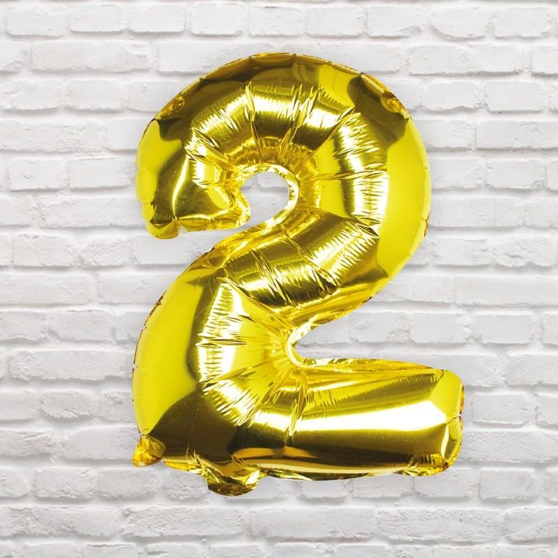 Foliový Balón - 2 - Zlatá (40cm)