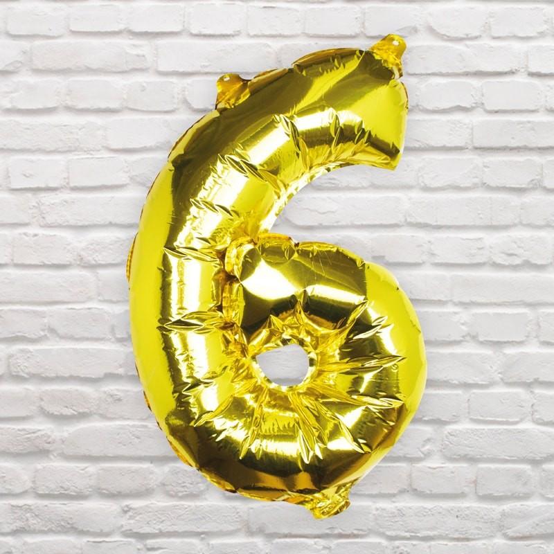 Foliový Balón - 6 - Zlatá (40cm)