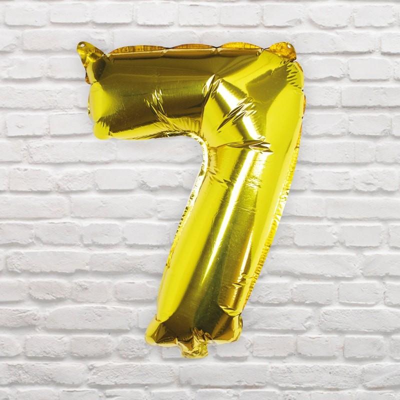 Foliový Balón - 7 - Zlatá (40cm)