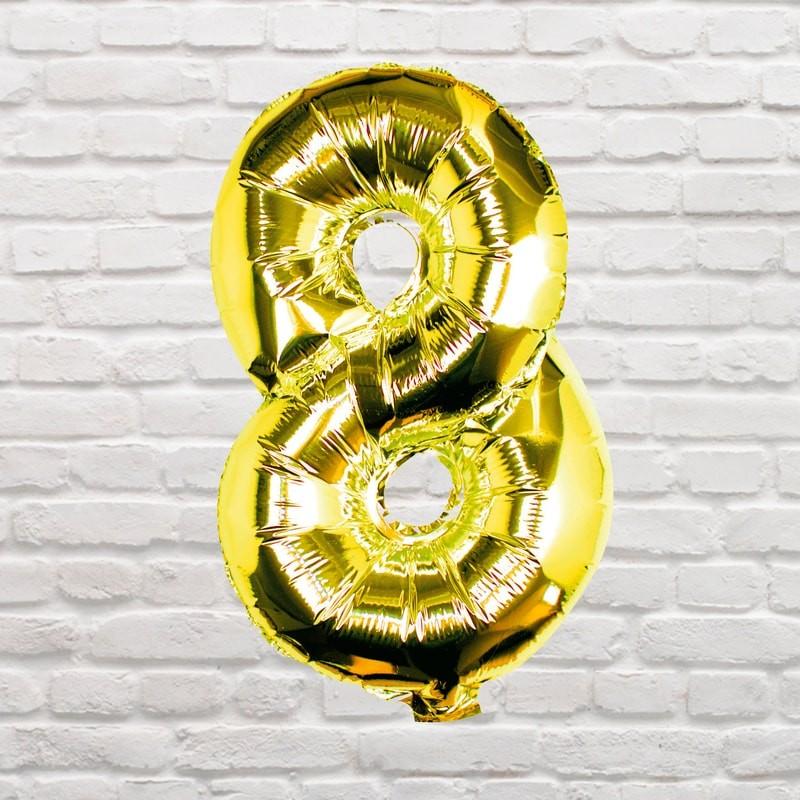 Foliový Balón - 8 - Zlatá (40cm)
