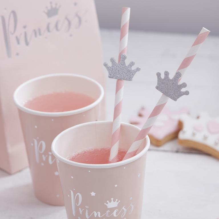 Papierové Slamky - Korunky - Dokonalá Princezná (16ks)